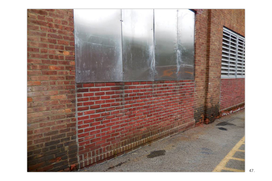 Brick Wall Silver Panels